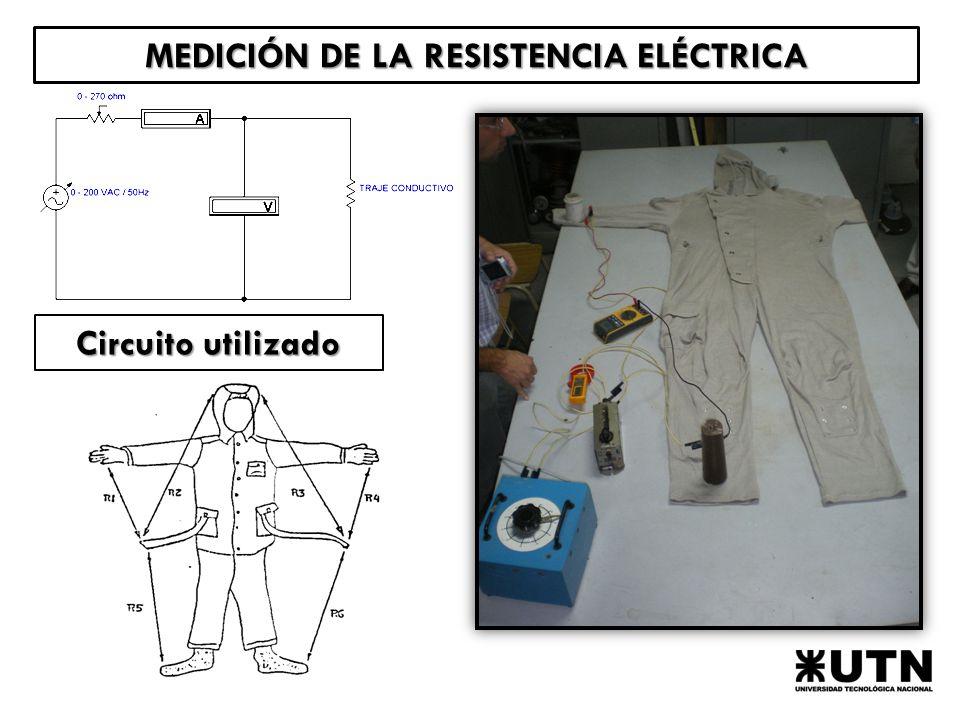 MEDICIÓN DE LA RESISTENCIA ELÉCTRICA Circuito utilizado