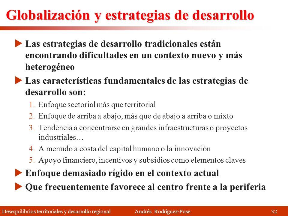 Desequilibrios territoriales y desarrollo regional Andrés Rodríguez-Pose La nueva división territorial (II) Ciudades región intermedias Capaces de atr