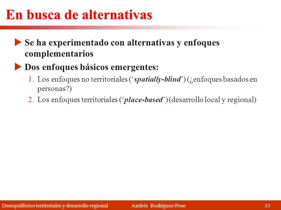 Desequilibrios territoriales y desarrollo regional Andrés Rodríguez-Pose Globalización y estrategias de desarrollo Las estrategias de desarrollo tradi