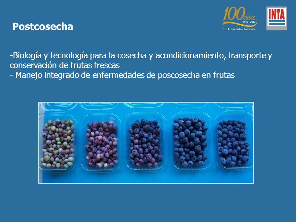 Postcosecha -Biología y tecnología para la cosecha y acondicionamiento, transporte y conservación de frutas frescas - Manejo integrado de enfermedades de poscosecha en frutas