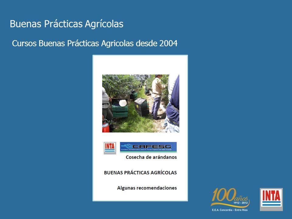 Buenas Prácticas Agrícolas Cursos Buenas Prácticas Agricolas desde 2004
