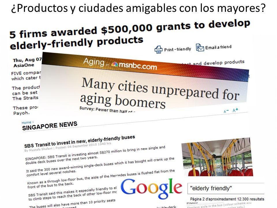 ¿Productos y ciudades amigables con los mayores?