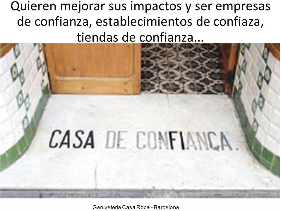 Ganiveteria Casa Roca - Barcelona Quieren mejorar sus impactos y ser empresas de confianza, establecimientos de confiaza, tiendas de confianza...