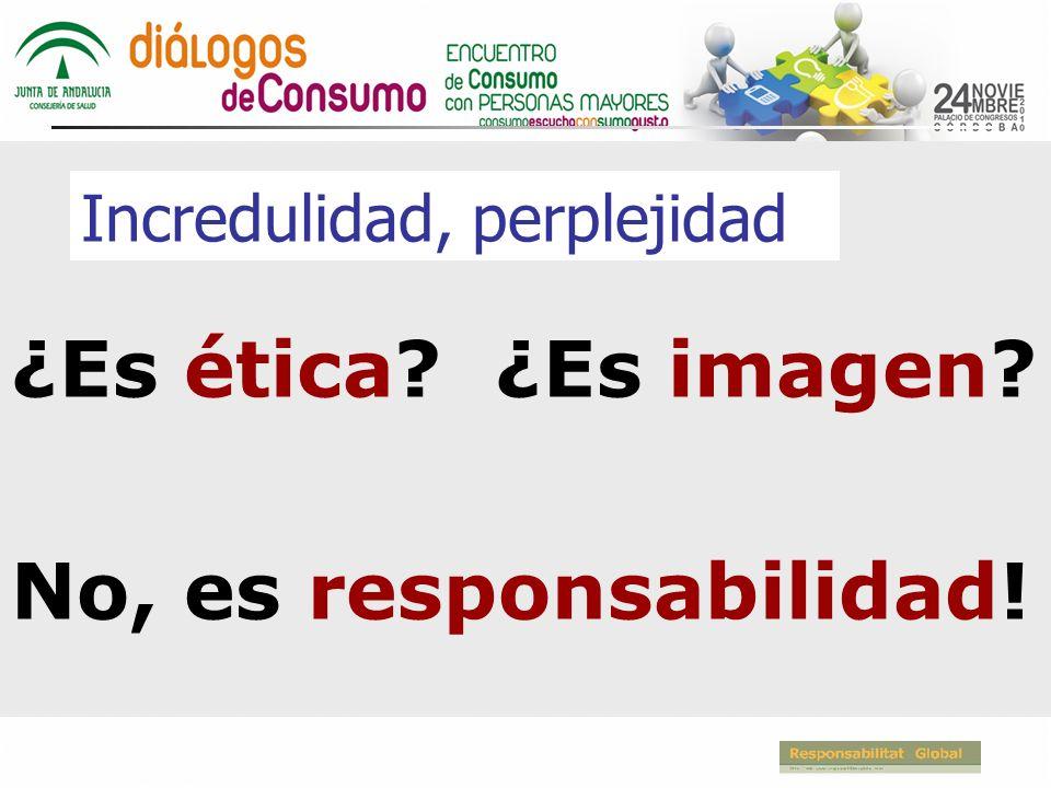 Incredulidad, perplejidad ¿Es ética? ¿Es imagen? No, es responsabilidad!