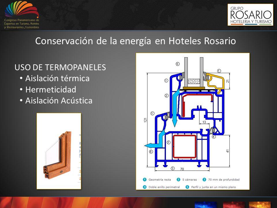 USO DE TERMOPANELES Aislación térmica Hermeticidad Aislación Acústica Conservación de la energía en Hoteles Rosario
