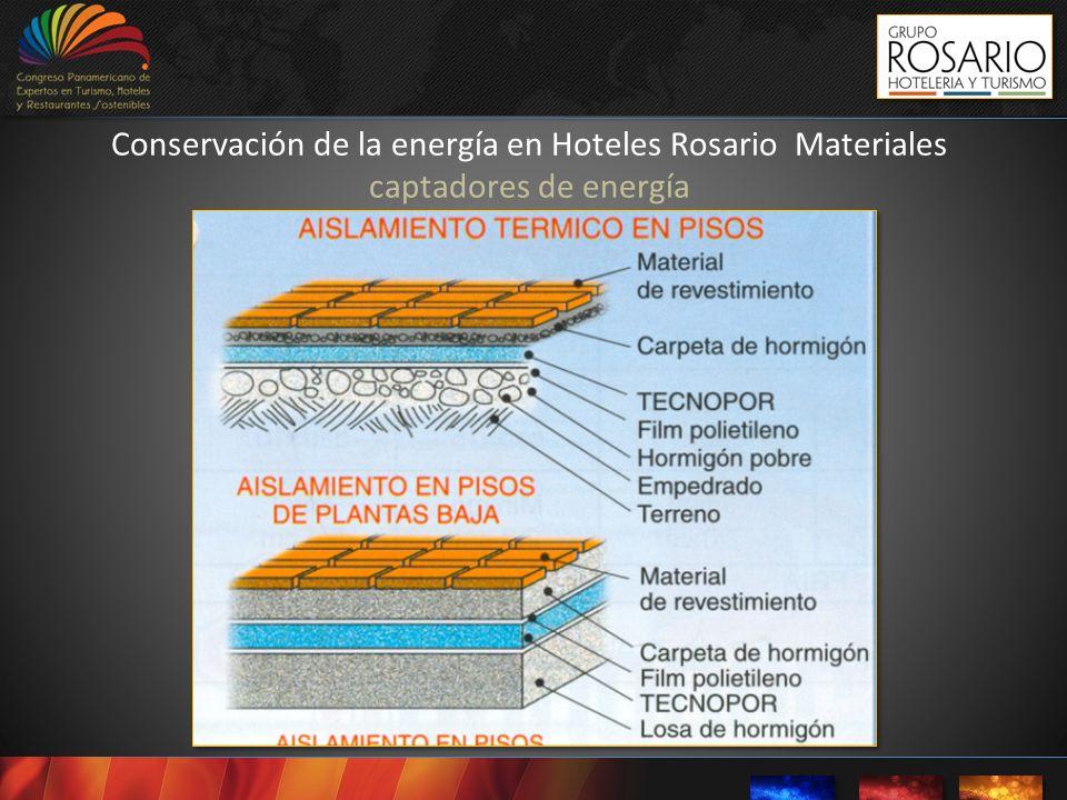 Conservación de la energía en Hoteles Rosario Materiales captadores de energía