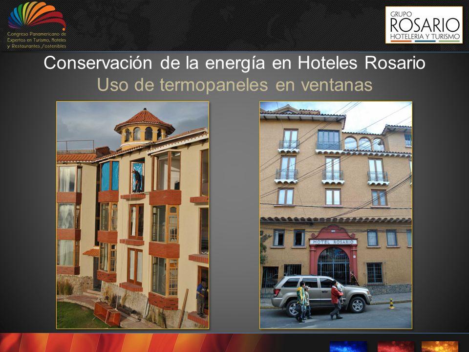 Conservación de la energía en Hoteles Rosario Uso de termopaneles en ventanas