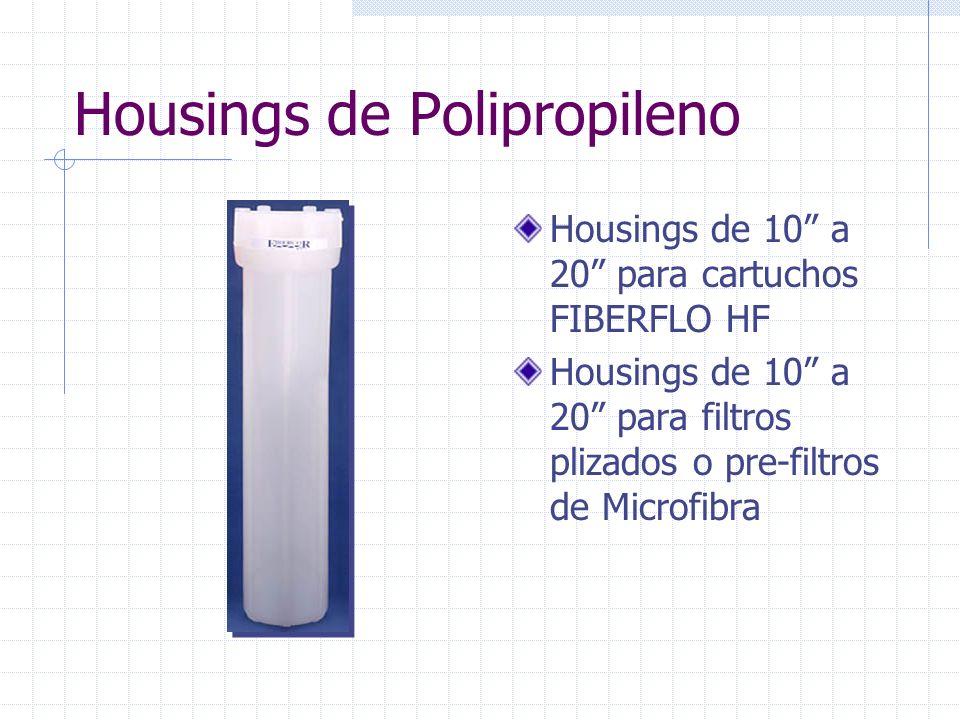 Housings de Acero Inoxidable Housings de 10 hasta 40 Single-Round a 12- Round Housings especiales para necesidades especiales Accesorios sanitarios de