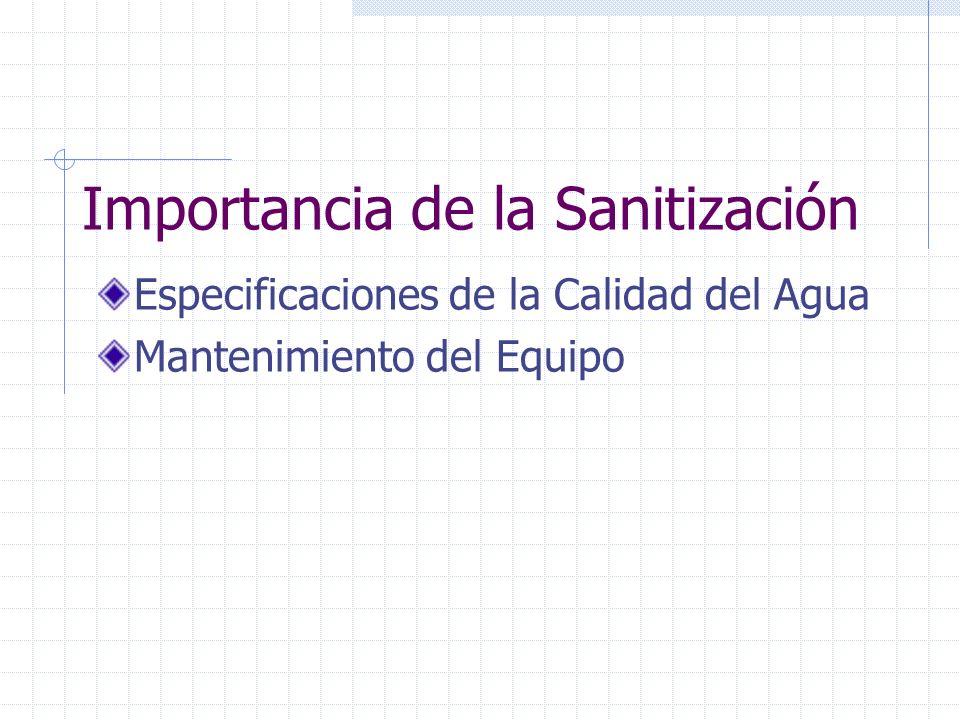 Guías Generales de Sanitización Importancia del diseño sanitario Monitoreo Compatibilidad Química Concentración/ Tiempo de contacto No mezclar químicos Enguajar Completamente Profundidad/Minuciosidad
