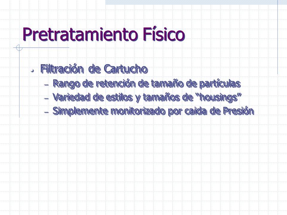 Etapas de Tratamiento de Agua Pre-tratamiento Físico Pre-tratamiento Químico Purificación Físico-Química Purificación Iónica Purificación Bacteriana F