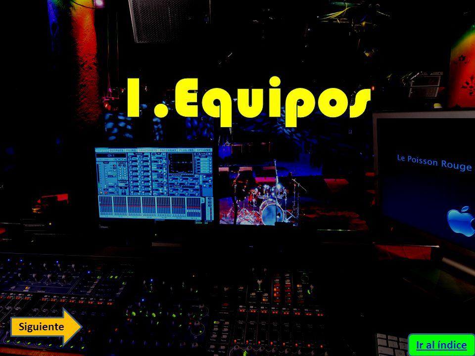Equipos de Audio, Consolas e Instrumentos Ponencia 1 Ponencia 2 Ir al índice