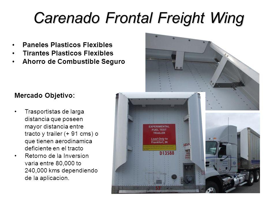 Carenado Frontal Freight Wing Paneles Plasticos Flexibles Tirantes Plasticos Flexibles Ahorro de Combustible Seguro Mercado Objetivo: Trasportistas de