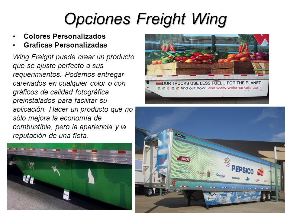 Opciones Freight Wing Colores Personalizados Graficas Personalizadas Wing Freight puede crear un producto que se ajuste perfecto a sus requerimientos.