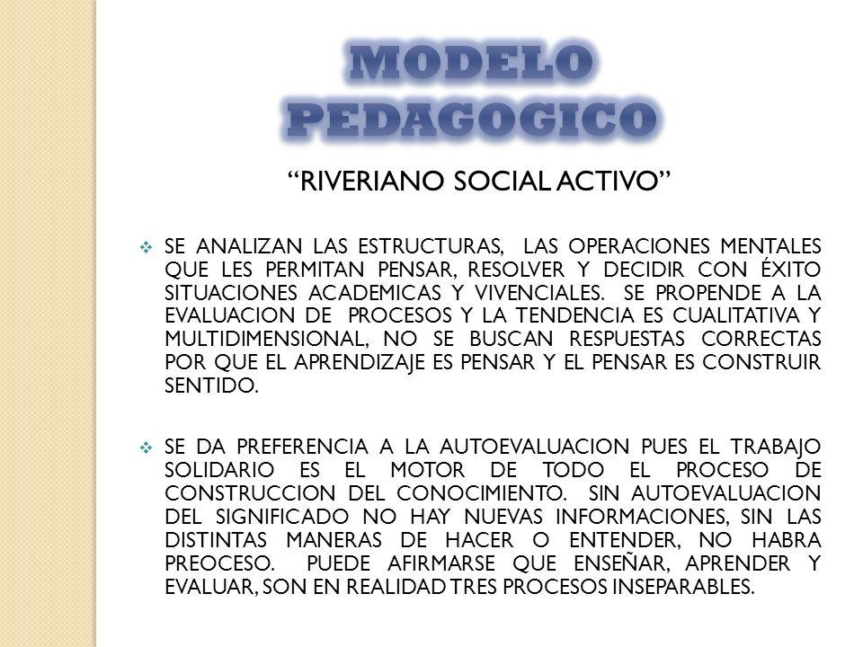 RIVERIANO SOCIAL ACTIVO SE ANALIZAN LAS ESTRUCTURAS, LAS OPERACIONES MENTALES QUE LES PERMITAN PENSAR, RESOLVER Y DECIDIR CON ÉXITO SITUACIONES ACADEM
