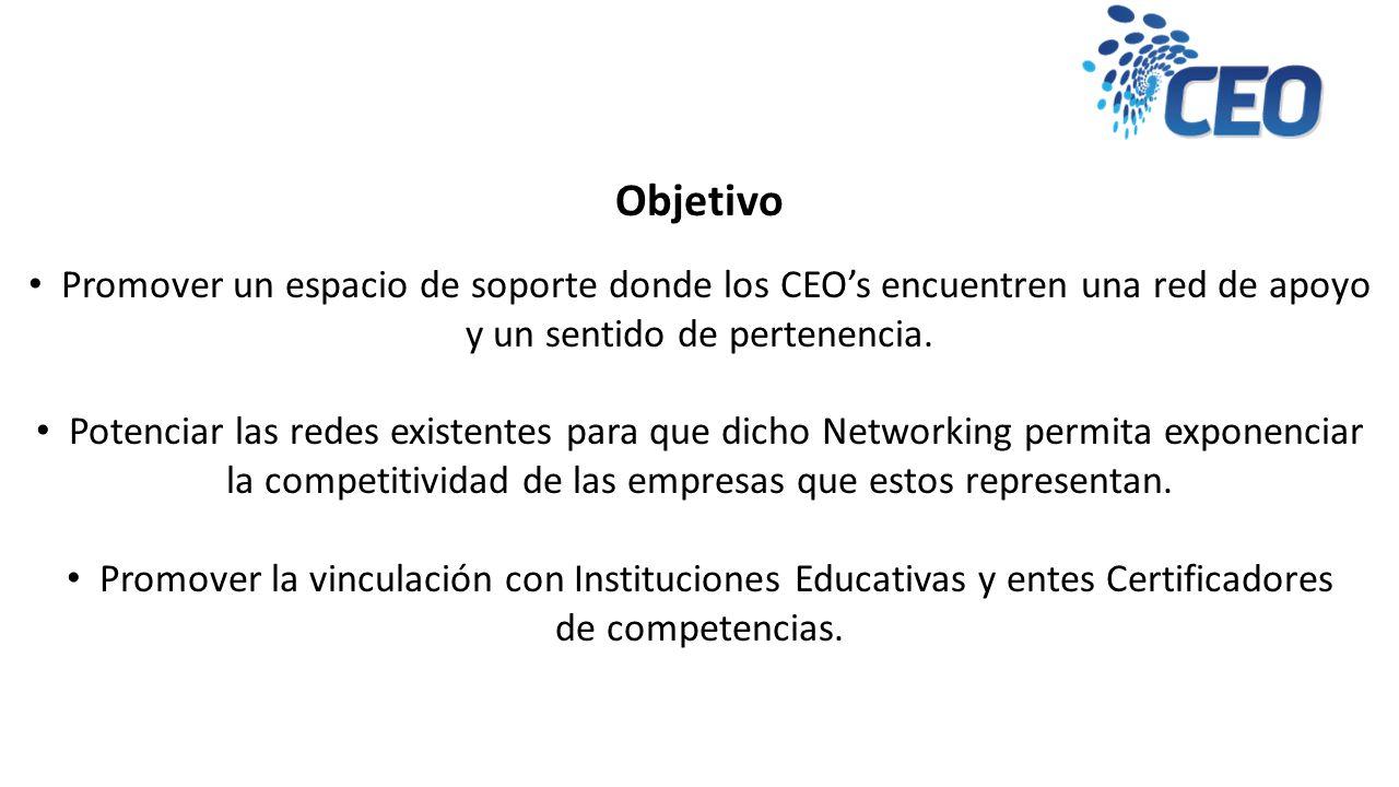 Objetivo Promover un espacio de soporte donde los CEOs encuentren una red de apoyo y un sentido de pertenencia.