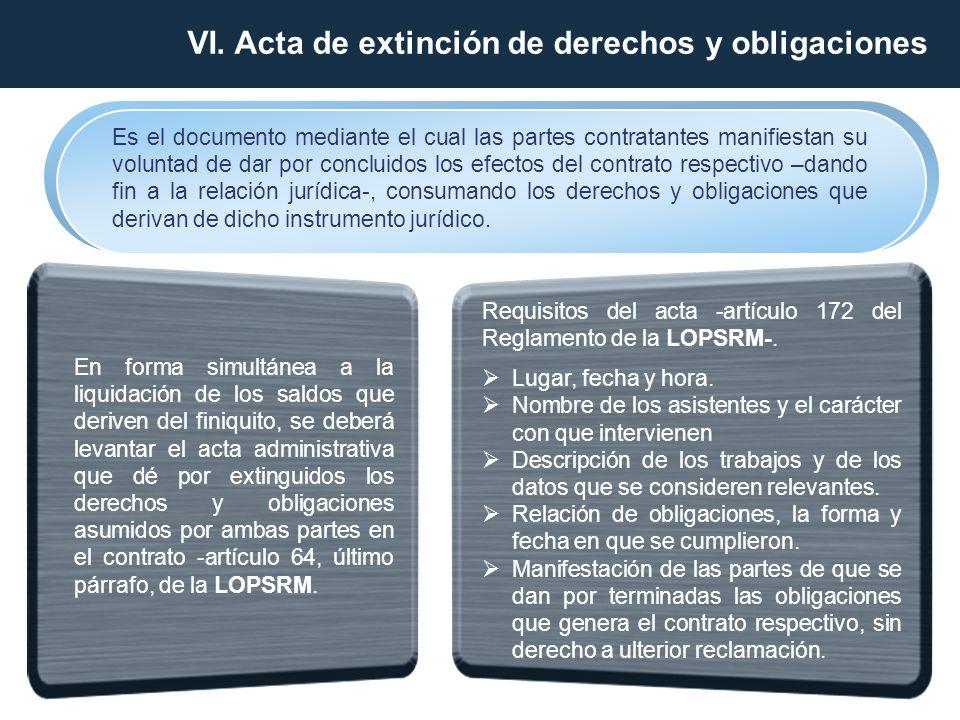 Es el documento mediante el cual las partes contratantes manifiestan su voluntad de dar por concluidos los efectos del contrato respectivo –dando fin