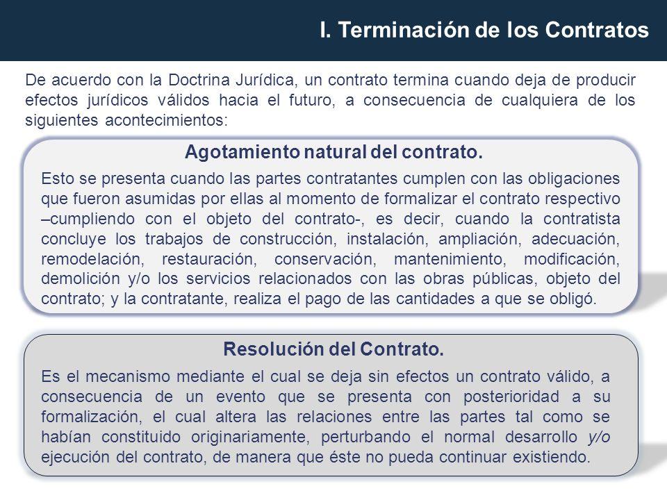 CAUSALES DE RESOLUCIÓN Resolución por el contratante.