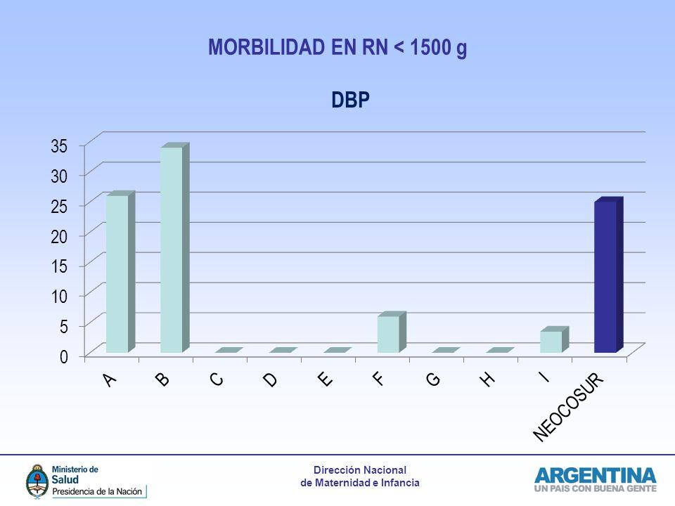 Dirección Nacional de Maternidad e Infancia MORBILIDAD EN RN < 1500 g