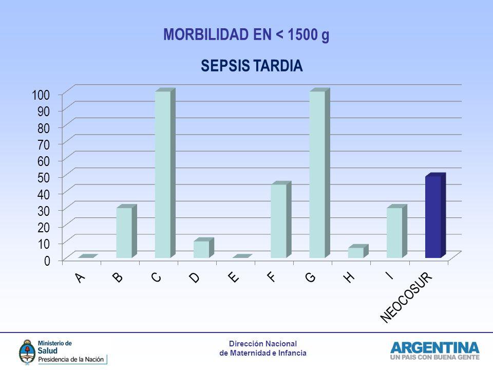 Dirección Nacional de Maternidad e Infancia MORBILIDAD EN < 1500 g