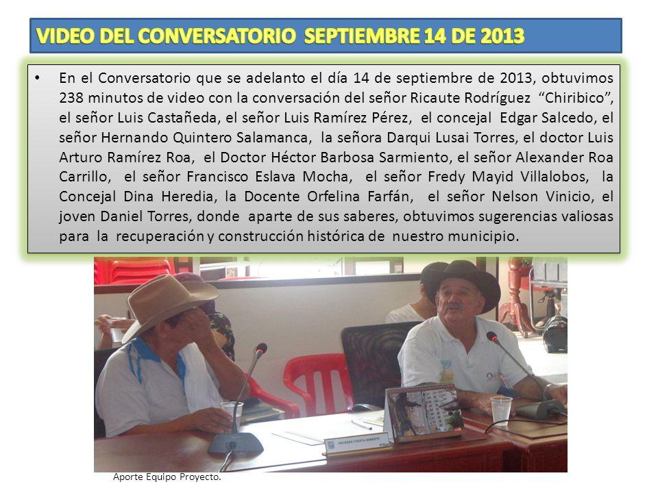 Para el equipo de Trabajo, fue muy grato escuchar y tomar en video el testimonio de personalidades como la señora Audelia Caballero de Rodríguez, el E