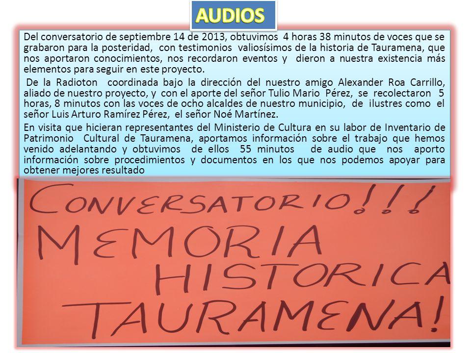 De la Radioton coordinada bajo la dirección del nuestro amigo Alexander Roa Carrillo, aliado de nuestro proyecto, y con el aporte del señor Tulio Mari