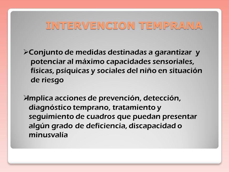 PROGRAMA DE SEGUIMIENTO: OBJETIVOS Detección temprana de los trastornos del desarrollo Intervención temprana Mejora en la integración familiar, escola
