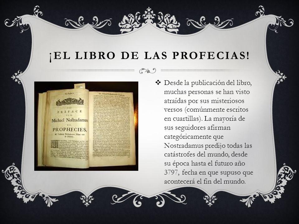 ¡ EL LIBRO DE LAS PROFECIAS.