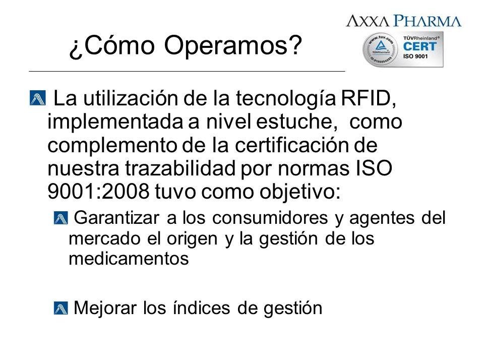¿Cómo Operamos? La utilización de la tecnología RFID, implementada a nivel estuche, como complemento de la certificación de nuestra trazabilidad por n