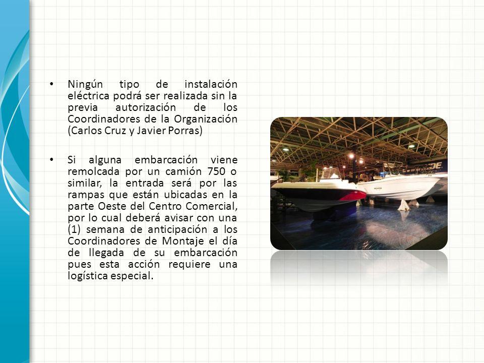 Ningún tipo de instalación eléctrica podrá ser realizada sin la previa autorización de los Coordinadores de la Organización (Carlos Cruz y Javier Porr