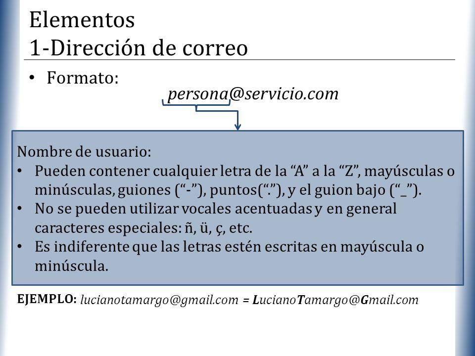 XP Formato: Nombre de usuario: Pueden contener cualquier letra de la A a la Z, mayúsculas o minúsculas, guiones (-), puntos(.), y el guion bajo (_). N