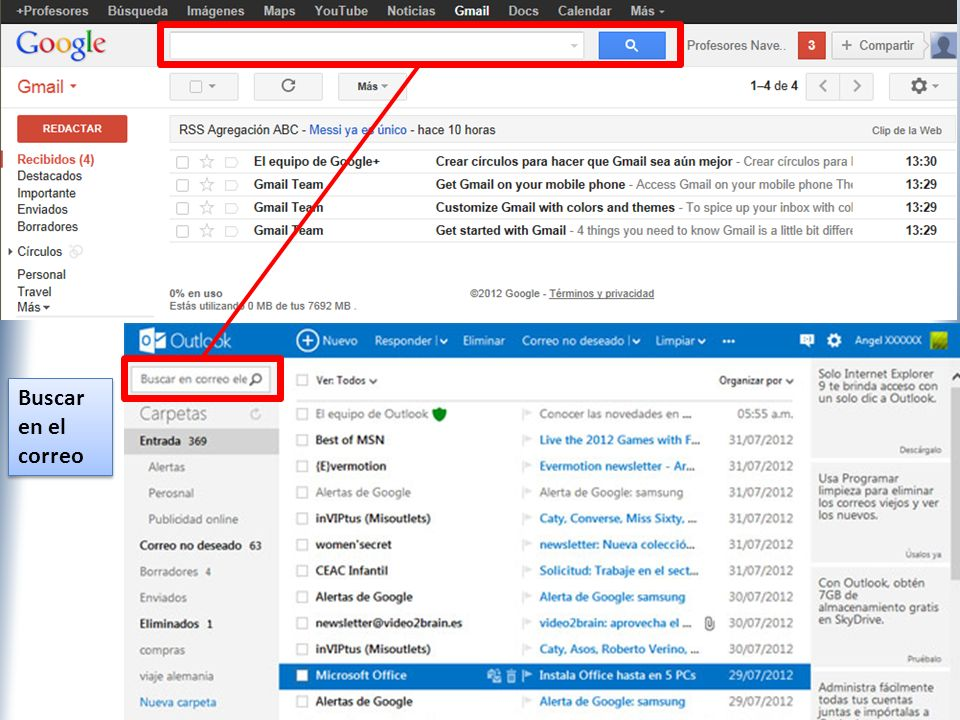 XP Buscar en el correo