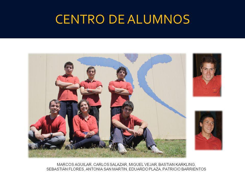 CENTRO DE ALUMNOS MARCOS AGUILAR, CARLOS SALAZAR, MIGUEL VEJAR, BASTIAN KARKLING, SEBASTIÁN FLORES, ANTONIA SAN MARTIN, EDUARDO PLAZA, PATRICIO BARRIE