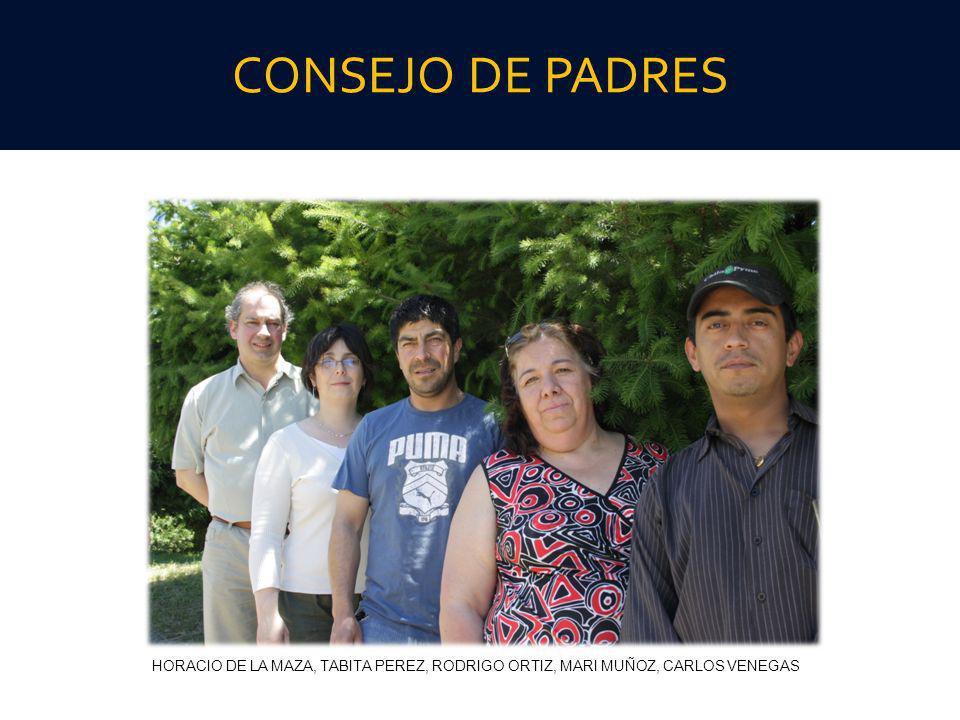 CONSEJO DE PADRES HORACIO DE LA MAZA, TABITA PEREZ, RODRIGO ORTIZ, MARI MUÑOZ, CARLOS VENEGAS