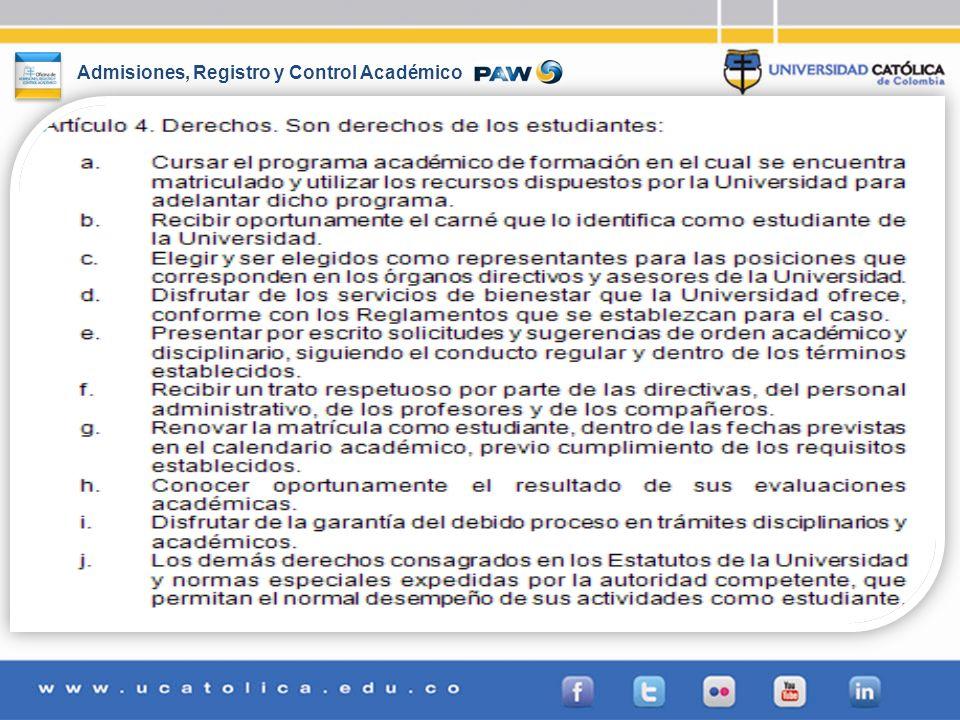 Admisiones, Registro y Control Académico