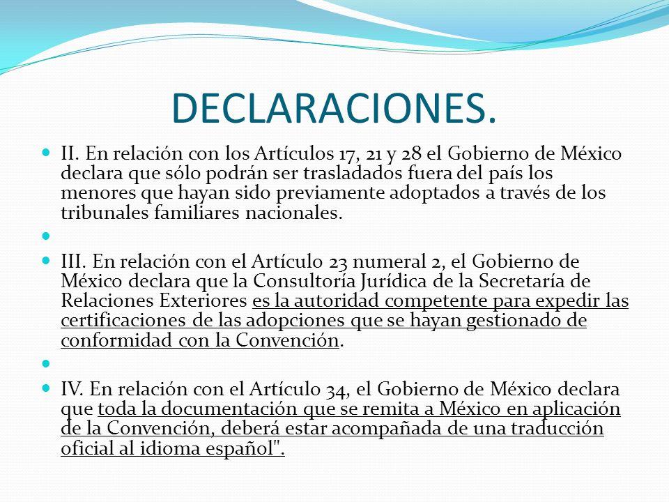 DECLARACIONES. II.