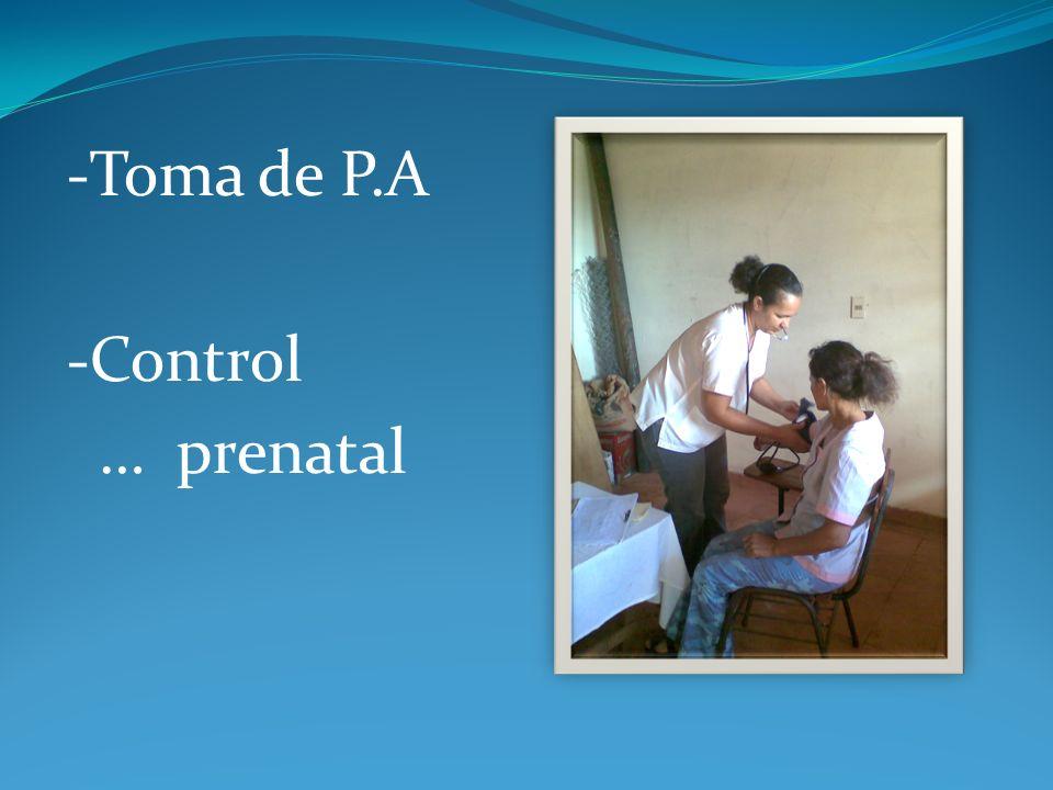 -Toma de P.A -Control … prenatal