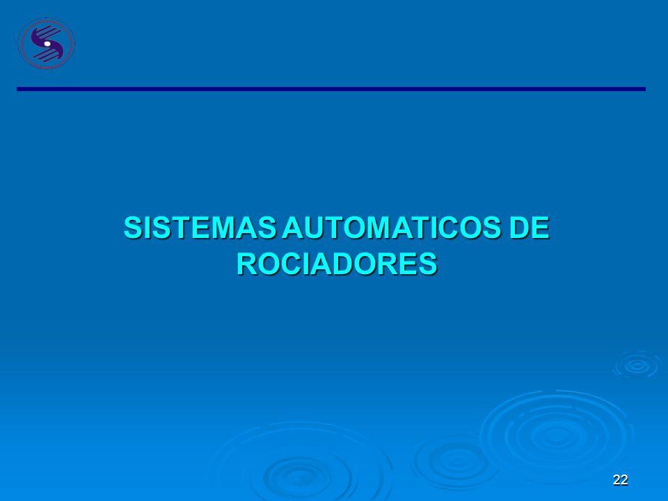 22 SISTEMAS AUTOMATICOS DE ROCIADORES