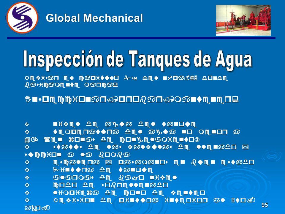 94 Global Mechanical AL CUARTO MES VERIFICAR MANOMETROS ARRIBA Y ABAJO DE LA VALVULA CHECK ALARMA, ABRIENDO Y CERRANDO LA VALVULA DE DREN PARA ESTABIL