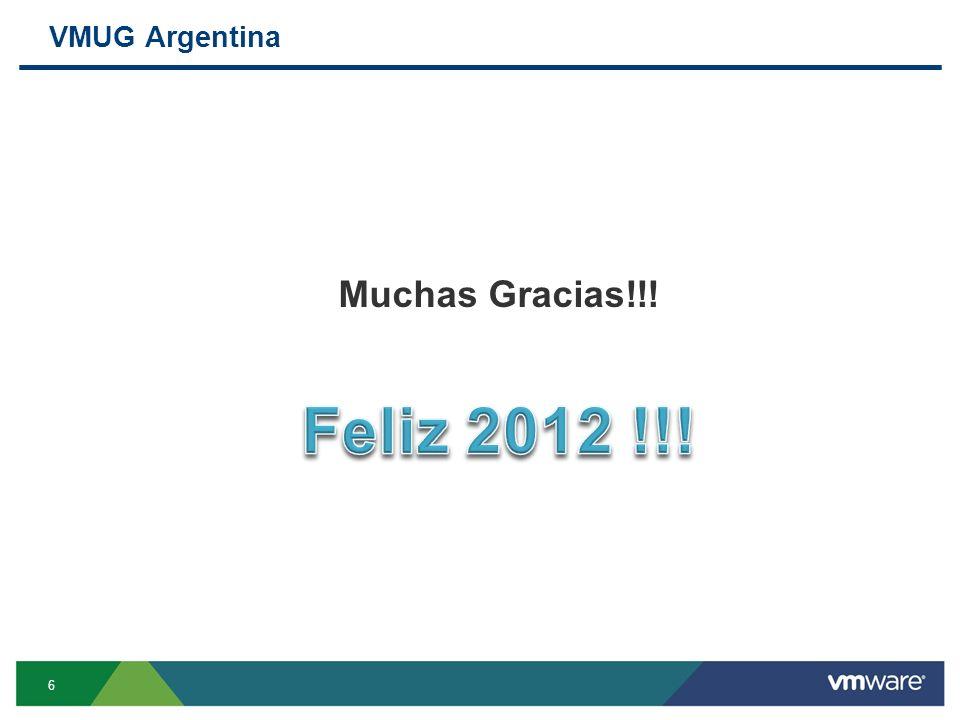 VMUG Argentina 6 Muchas Gracias!!!