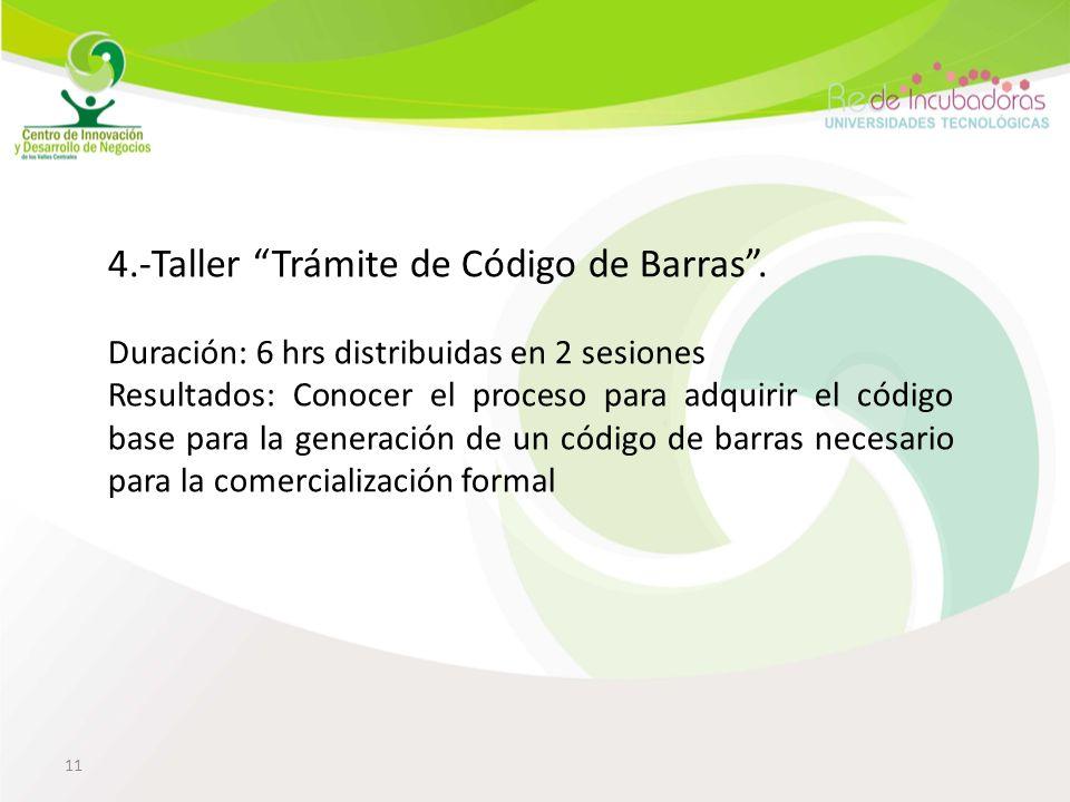 11 4.-Taller Trámite de Código de Barras.