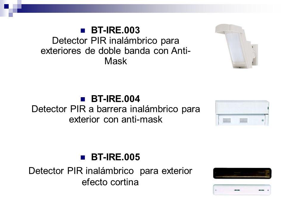 BT-IRE.003 Detector PIR inalámbrico para exteriores de doble banda con Anti- Mask BT-IRE.004 Detector PIR a barrera inalámbrico para exterior con anti