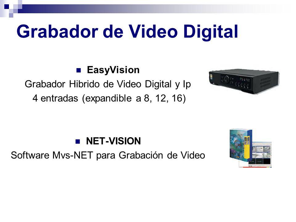 EasyVision Grabador Hibrido de Video Digital y Ip 4 entradas (expandible a 8, 12, 16) NET-VISION Software Mvs-NET para Grabación de Video Grabador de