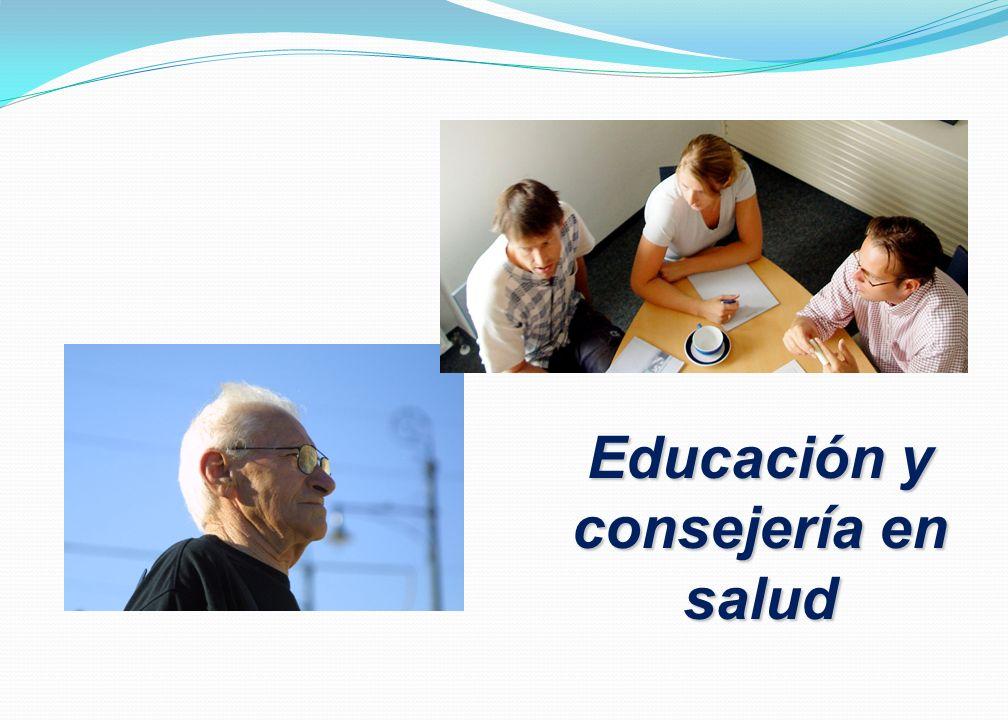 Educación y consejería en salud