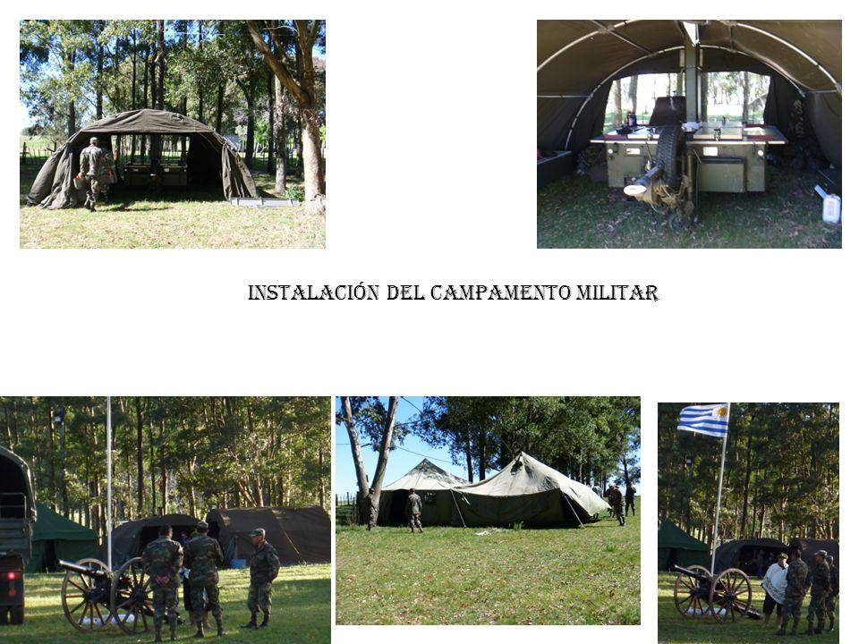 Instalación del campamento militar