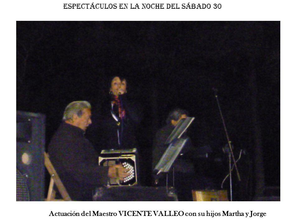 Actuación del Maestro VICENTE VALLEO con su hijos Martha y Jorge