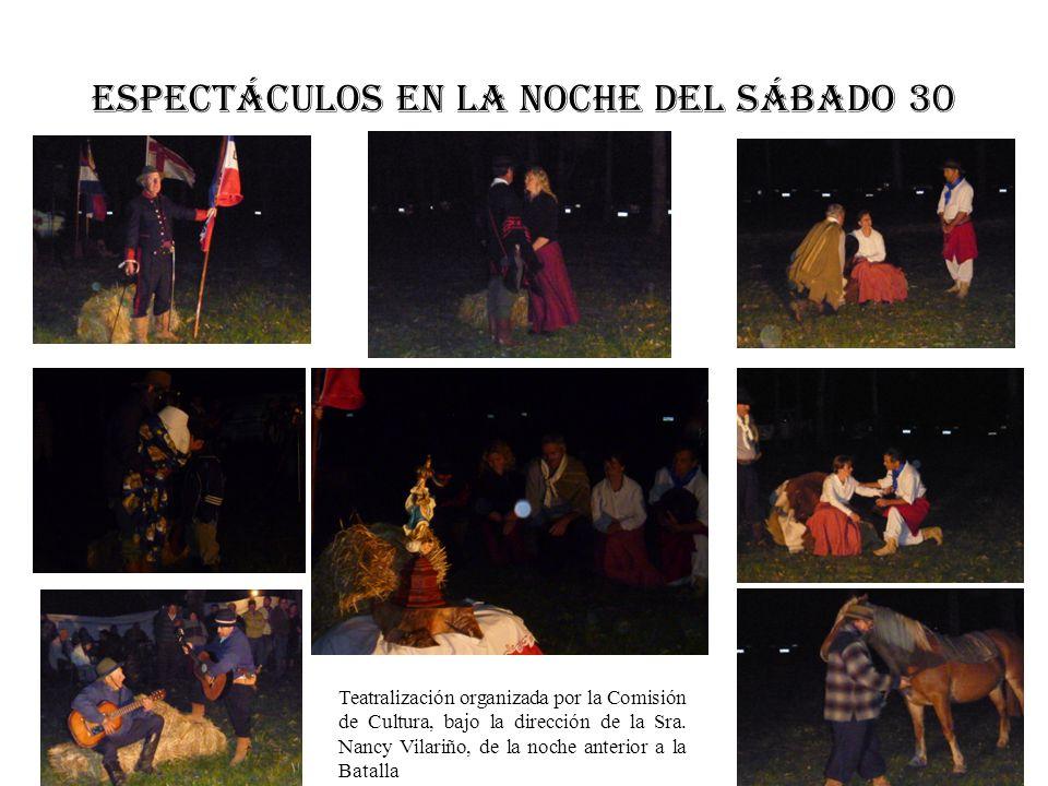 ESPECTÁCULOS EN LA NOCHE DEL SÁBADO 30 Teatralización organizada por la Comisión de Cultura, bajo la dirección de la Sra. Nancy Vilariño, de la noche