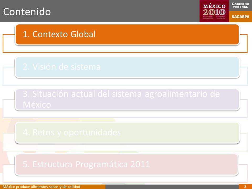13 Contenido 1.Contexto Global2. Visión de sistema 3.