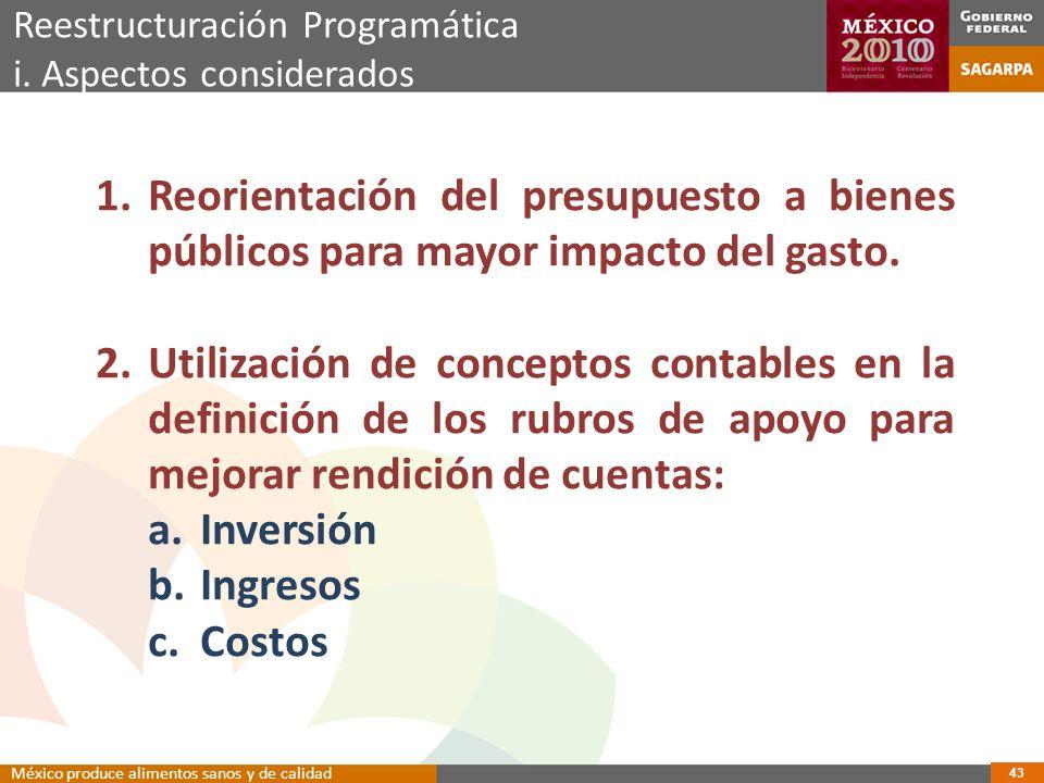 Reestructuración Programática i.