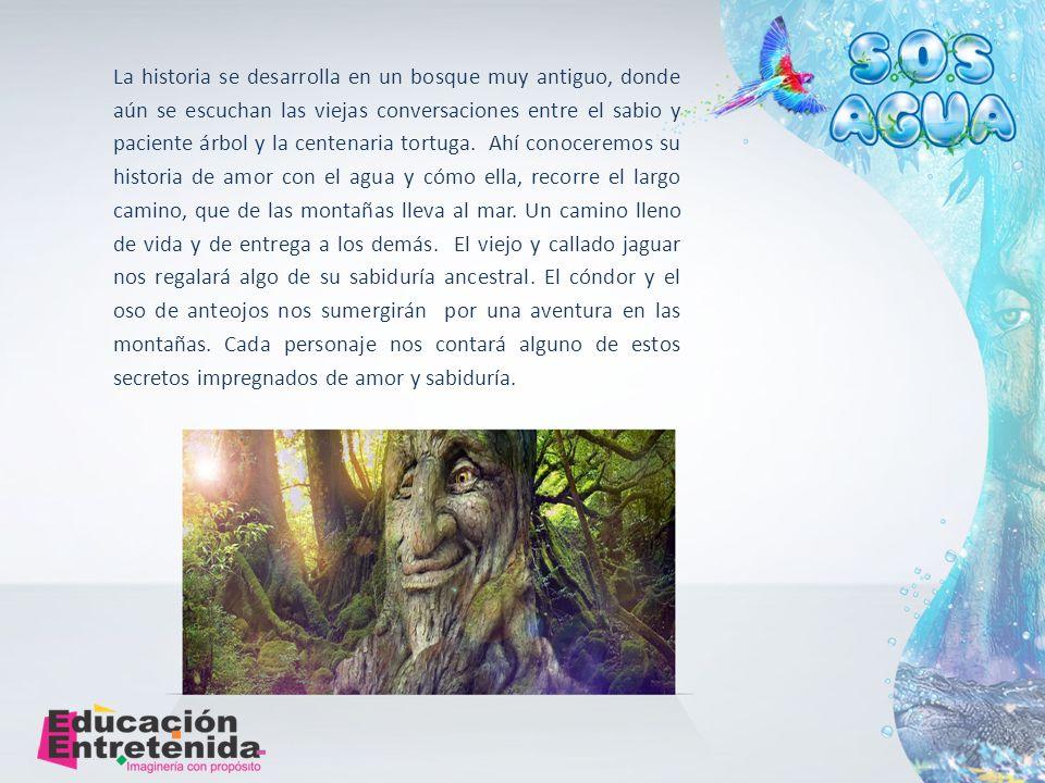La historia se desarrolla en un bosque muy antiguo, donde aún se escuchan las viejas conversaciones entre el sabio y paciente árbol y la centenaria tortuga.