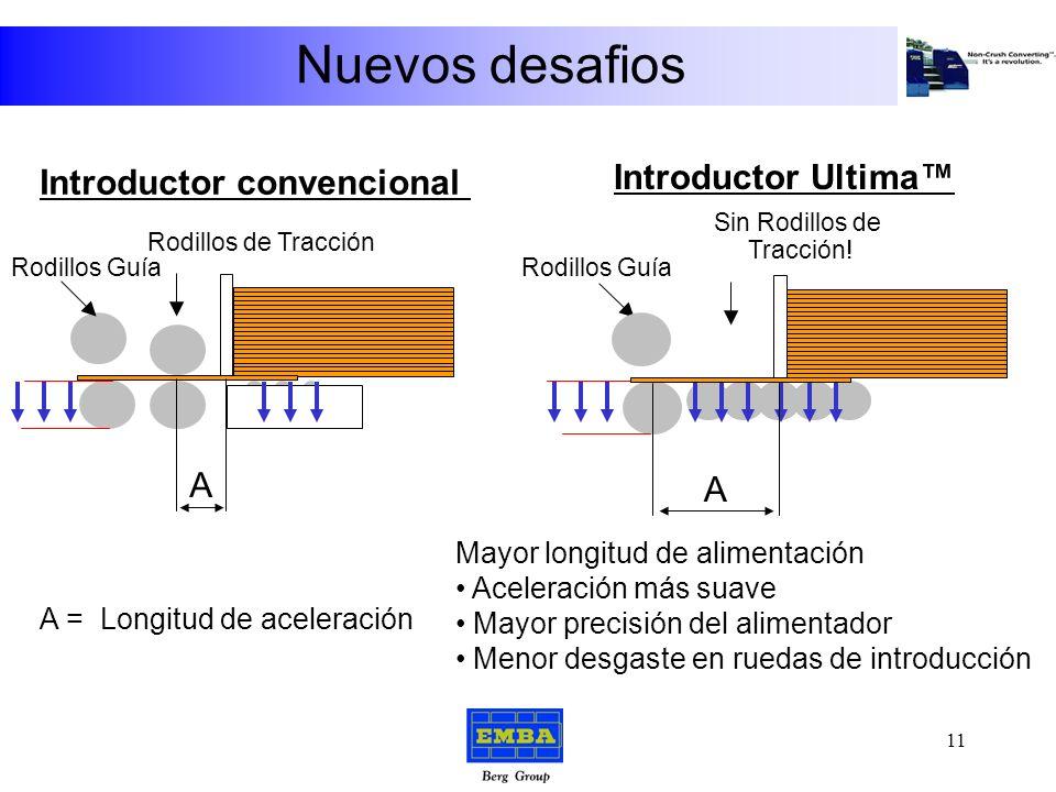 Nuevos desafios El Introductor ULTIMA Mayor precisión Menor coste de mantenimiento 10